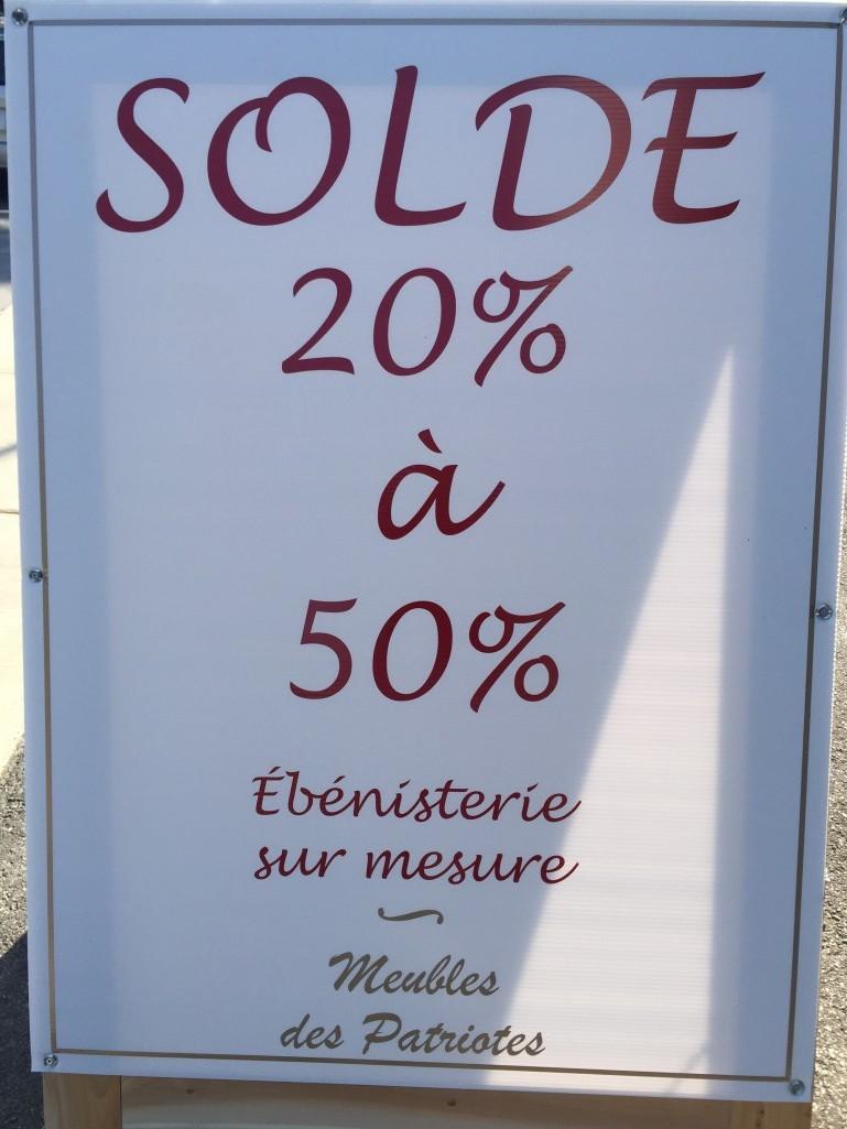 SOLDE 20 À 50%