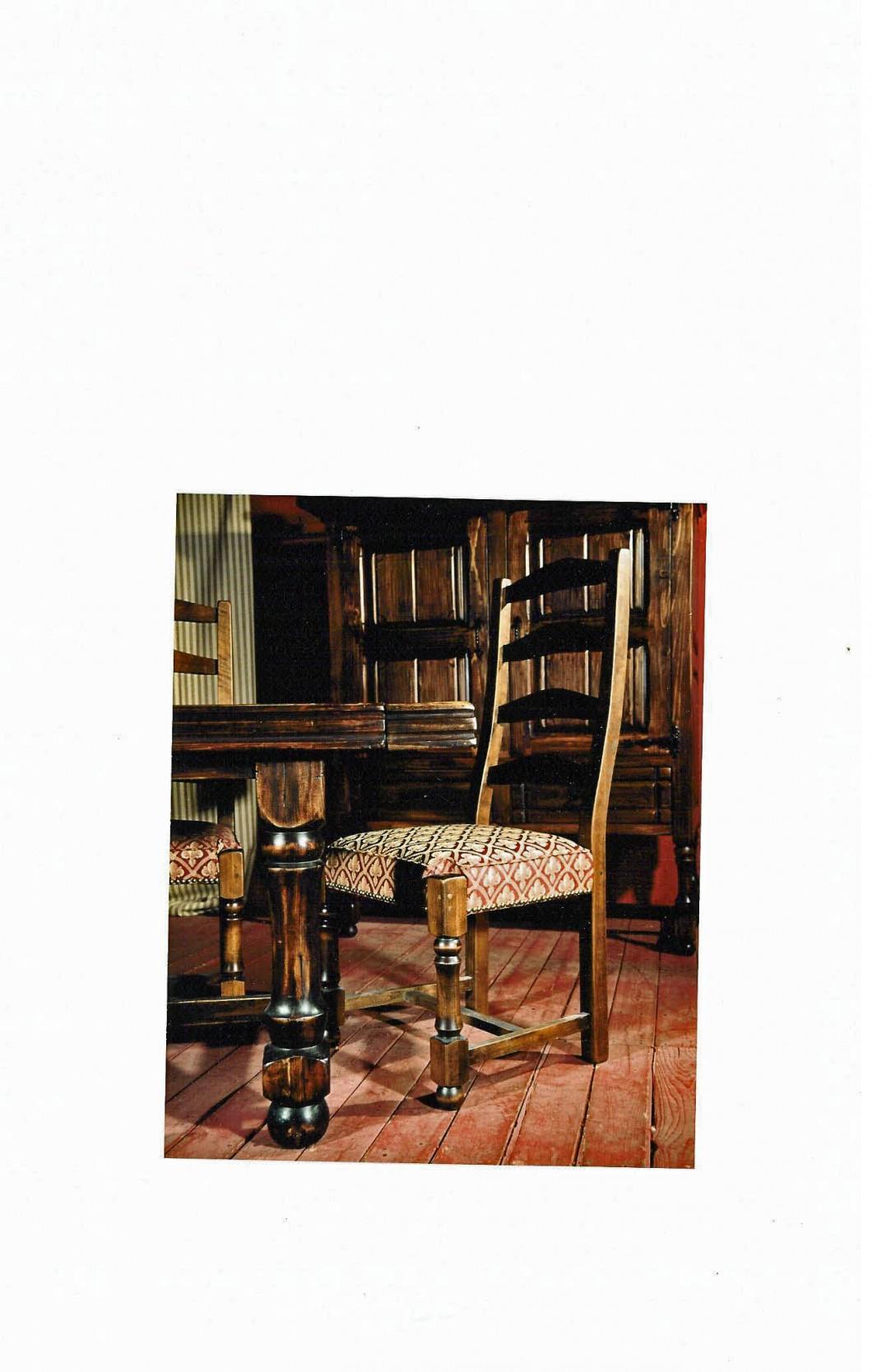 Meubles de salle manger table de bois massif faites for Salle a manger louis xiii