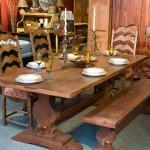 Table sur mesure en bois : Table banc pin et chaise érable
