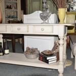 Table console en pin massif